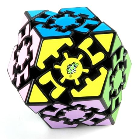 Шестеренчатый мегаминкс Gear Black Dodecahedron