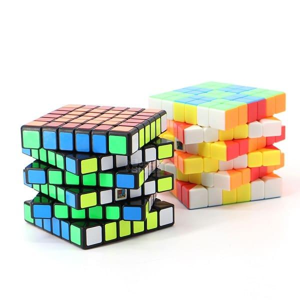 кубик Рубика 6х6 в чёрном и цветном пластике